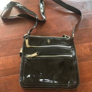 Cole Haan black patent leather crossbody
